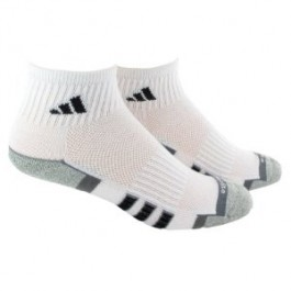 Adidas Mens Performance Quarter White 2 Pack