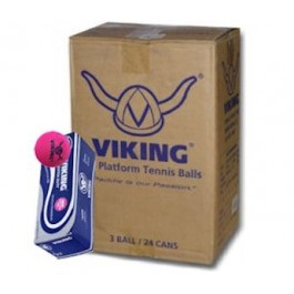 Viking Extra Duty Platform Tennis Balls Pink (Case)