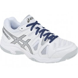 Asics Junior Gel Game White Tennis Shoe