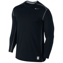 Nike Mens Hyperwarm Fitted Crew Black