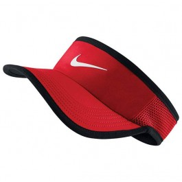 Nike Feather Light 3.0 Visor Red Tennis Hat