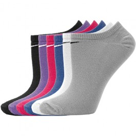 Nike Womens Performance No Show Sock Variety Two 6 Pack