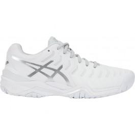 Asics Womens Gel Resolution 7 White Tennis Shoe