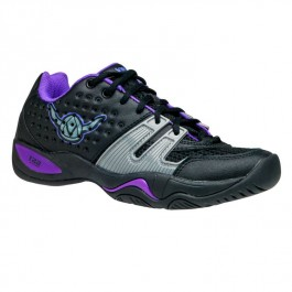 Viking Womens T22 Shoe Black Purple Platform Tennis