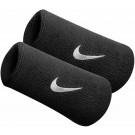 Nike Swoosh Double Wide Wrist Band Black